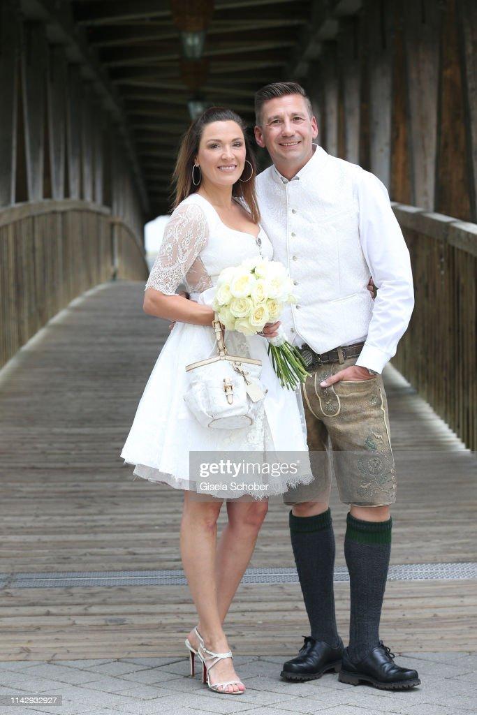 DEU: Wedding Of Simone Ballack And Andreas Mecky