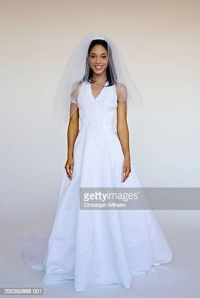 Bride smiling, portrait