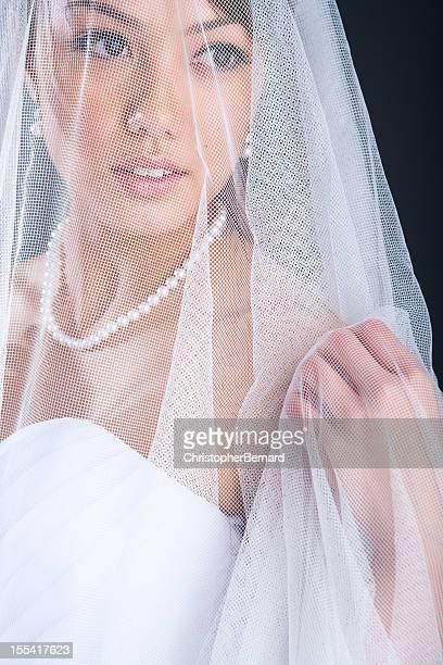 Bride under veil
