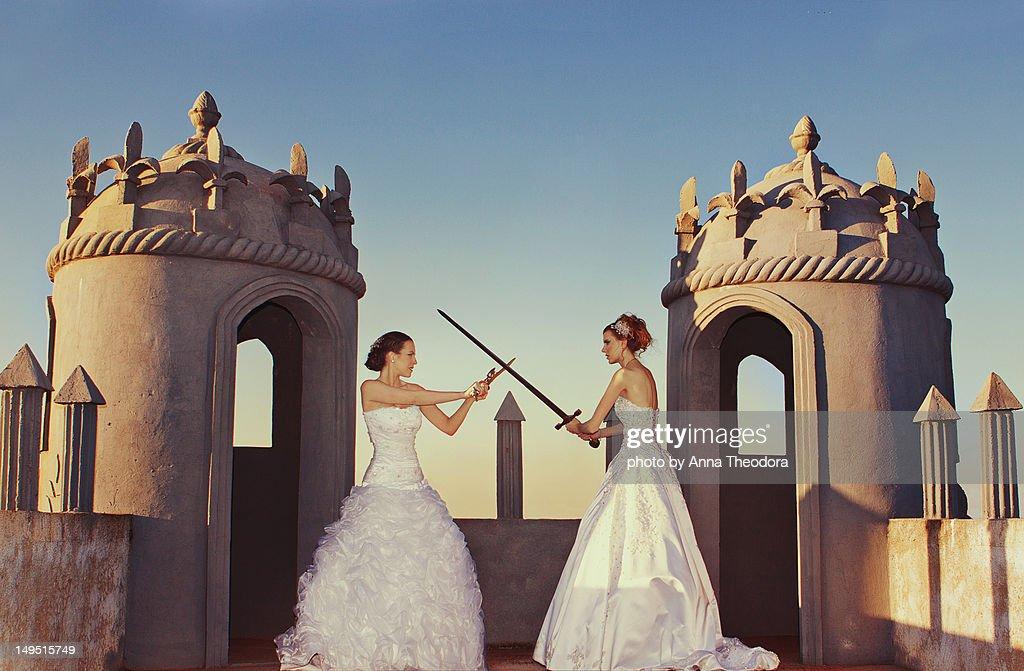 Bride wars : Stock Photo