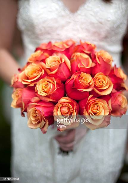 Bride with rose bouquet
