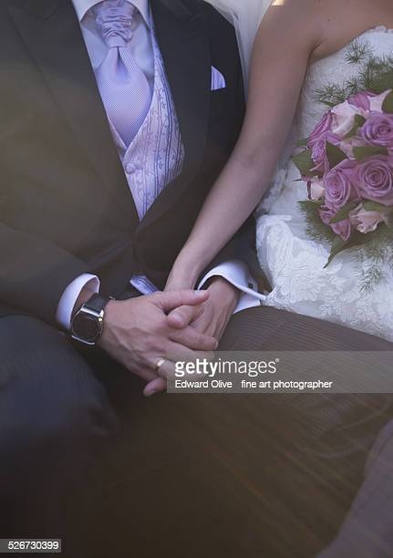 Bridegroom and bride in wedding ceremony