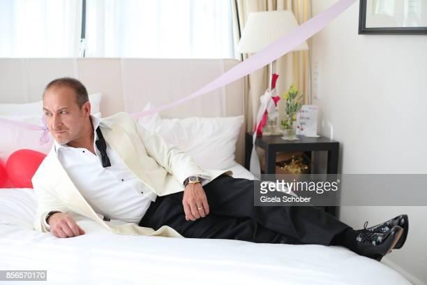 Bridegroom Erdogan Atalay before his church wedding with Katja Ohneck at Heidelberg Castle on September 30 2017 in Heidelberg Germany