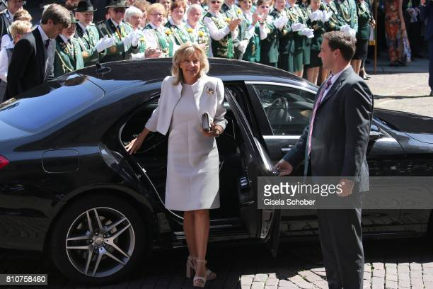 Bridegroom Ernst August of Hanover jr and his mother Chantal Hochuli former of Hanover during the wedding of Prince Ernst August of Hanover jr Duke...