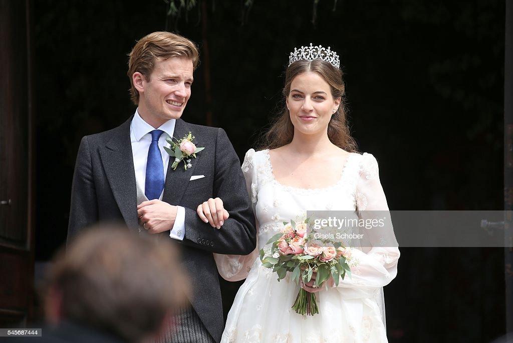 Wedding Of Hereditary Prince Franz Albrecht zu Oettingen-Spielberg And Cleopatra von Adelsheim In Oettingen : News Photo
