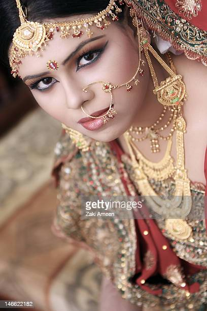 bridel - bangladeshi wedding stock photos and pictures
