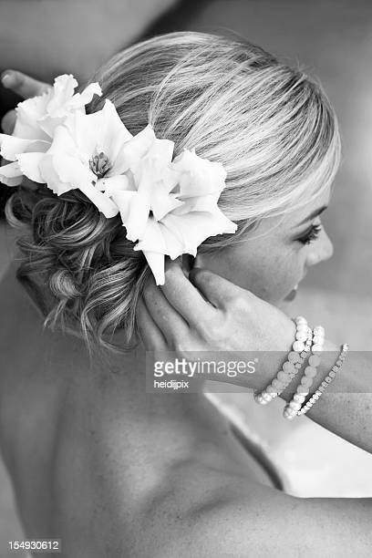 capelli della sposa - stile di capelli foto e immagini stock