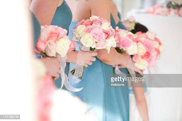 brides maids - bridesmaid stock pictures, royalty-free photos & images