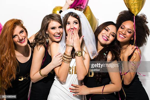 bride's squad - wedding role stock photos and pictures
