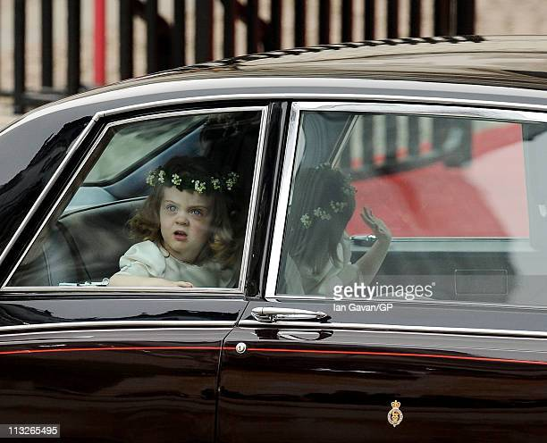 Bridesmaid Miss Grace van Cutsem arrives to attend the Royal Wedding of Prince William to Catherine Middleton at Westminster Abbey on April 29 2011...