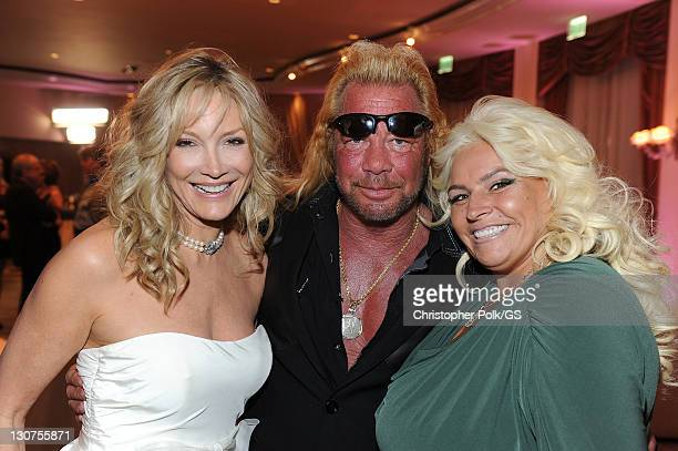 Bridesmaid Pam Bowen Duane Chapman and Beth Smith Chapman attend the wedding of Gene Simmons and Shannon Tweed at the Beverly Hills Hotel on October...