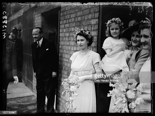 Bridesmaid Princess Elizabeth at a wedding 1946 A photograph of Princess Elizabeth as bridesmaid to Hon Mrs Vicary Gibbs and Captain Hon AGV...