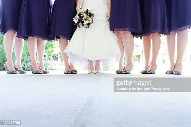 bridesmaid shoes - bridesmaid stock pictures, royalty-free photos & images