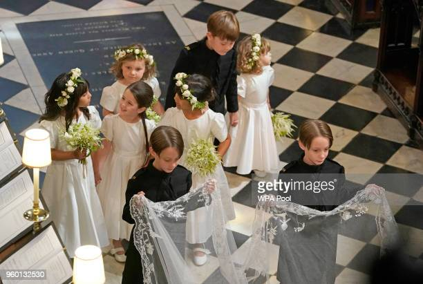 Bridesmaids and Page Boys during the wedding ceremony of Prince Harry and Meghan Markle in St George's Chapel at Windsor Castle on May 19 2018 in...