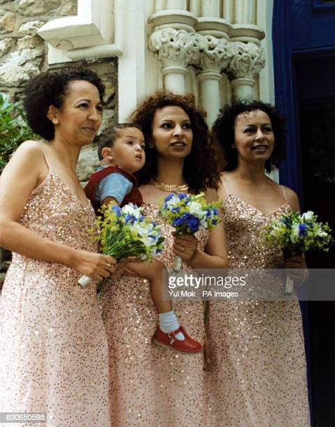 Bridesmaids at the wedding of Julian Lloyd Webber and Kheira Bourahla in Kensington, London. The 50-year cellist and brother of millionaire composer...