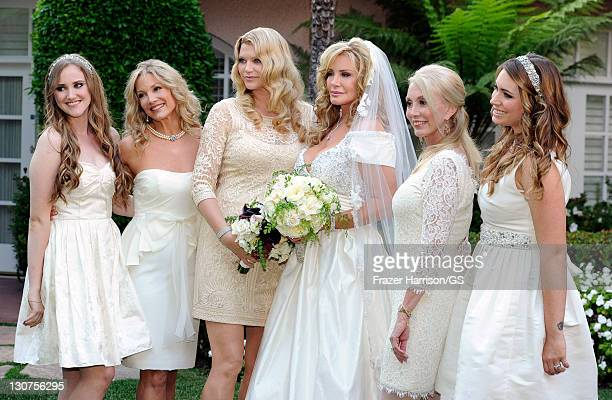 Bridesmaids Emily Field Pam Bowen Tracy Tweed bride Shannon Tweed Janis Kaye and Sophie Tweed Simmons attends the wedding of Gene Simmons and Shannon...