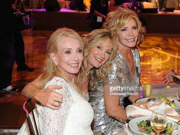 Bridesmaids Janis Kaye Pam Bowen and Bride Shannon Tweed attend the wedding of Gene Simmons and Shannon Tweed held at the Beverly Hills Hotel on...