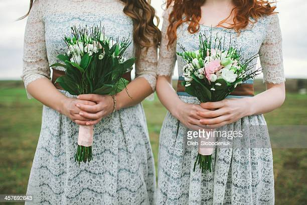 bridesmaids - bridesmaid stock pictures, royalty-free photos & images