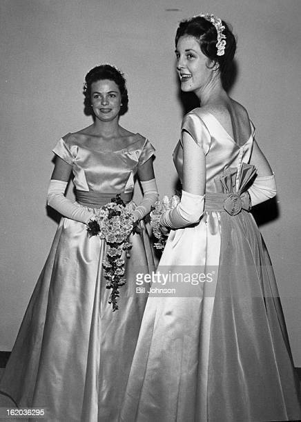 SEP 24 1960 SEP 27 1960 Bridesmaids Saturday were Mrs Donald A Ferguson and Miss Polly Sargeant gowned in shimmering pink satin frocks trimmed with...