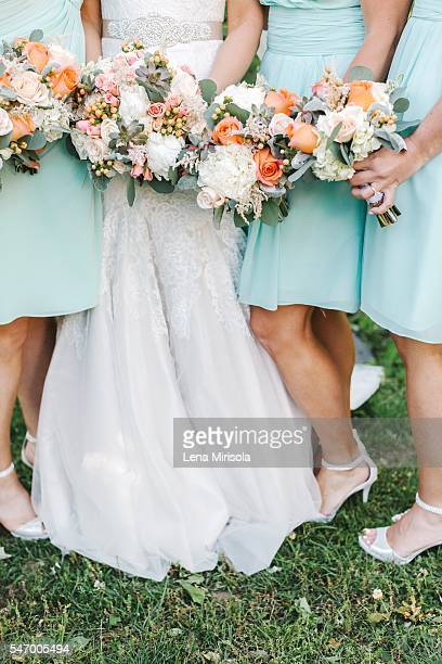 Bridesmaids & Wedding Bouquet