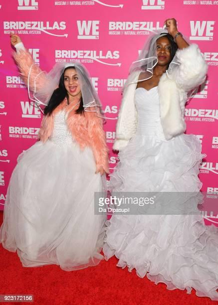 Bridezillas attend WE tv Launches Bridezillas Museum Of Natural Hysteria on February 22 2018 in New York City