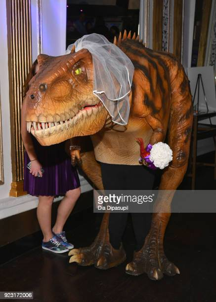 Bridezillasaurus at WE tv Launches Bridezillas Museum Of Natural Hysteria on February 22 2018 in New York City