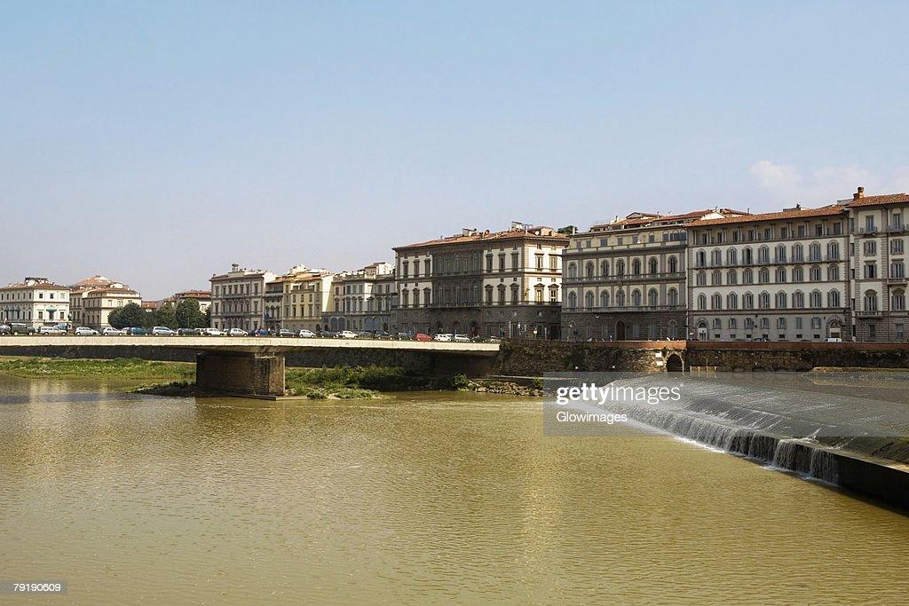 Bridge across a river, Arno River, Florence, Tuscany, Italy : Stock Photo