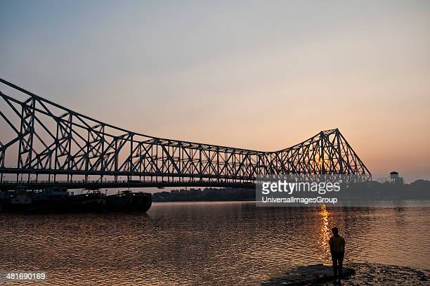 Bridge across a River Howrah Bridge Hooghly River Kolkata West Bengal India