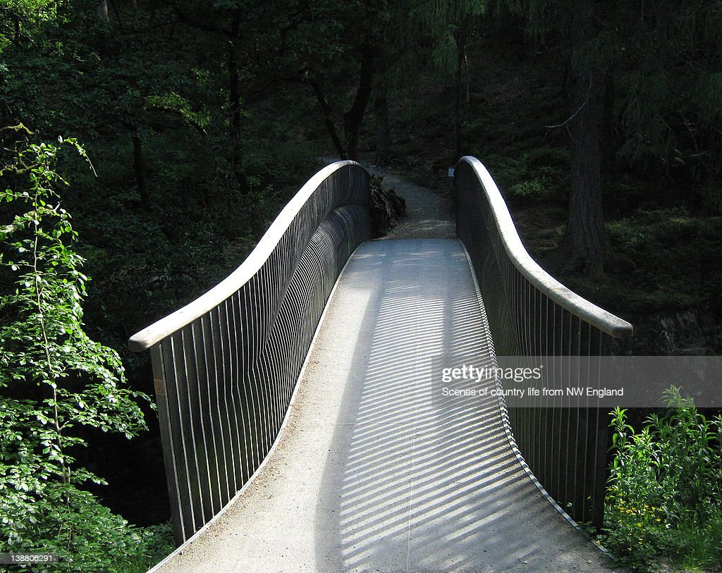 Bridge across Elter : ストックフォト