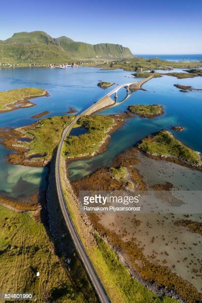 Bridge across island in lofoten, Norway