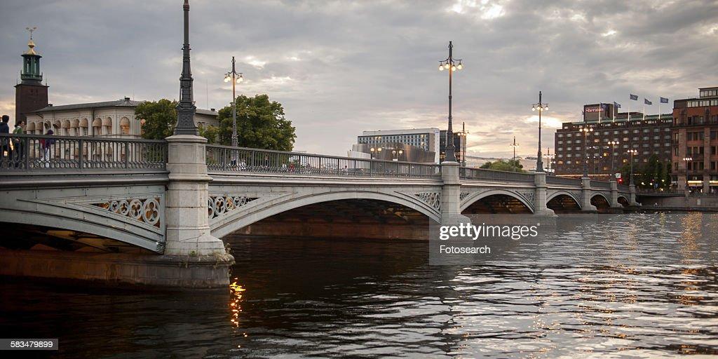 Bridge across the bay : Stock Photo