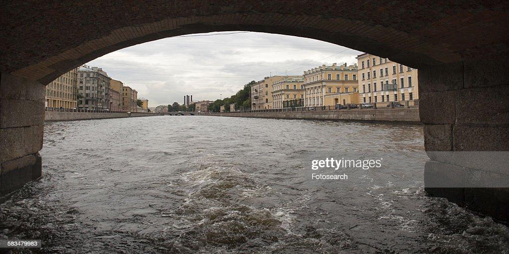 Bridge across the Fontanka River : Stock Photo