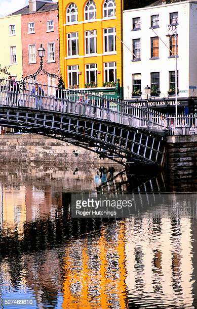 Bridge across the River Liffey in the Temple Bar area of Dublin