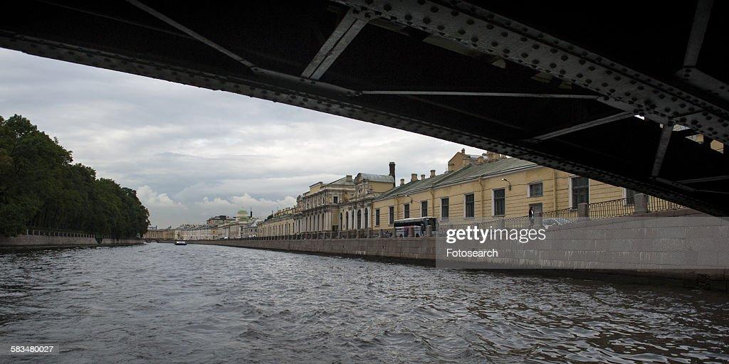 Bridge across the river : Stock Photo