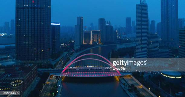 bridge aerial view - liyao xie stock pictures, royalty-free photos & images