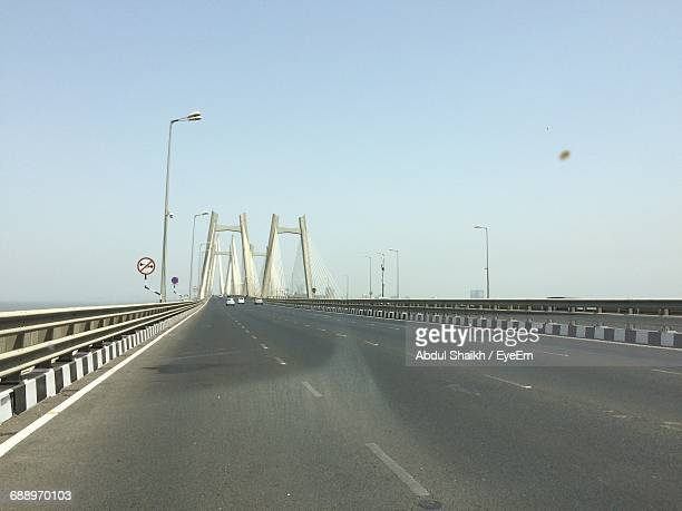 bridge against clear sky - maharashtra stock pictures, royalty-free photos & images