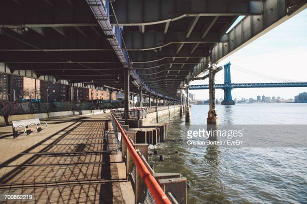 bridge against sky - bortes stock pictures, royalty-free photos & images