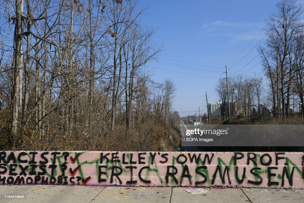 A bridge along Fee Lane near the Indiana University Kelley... : News Photo
