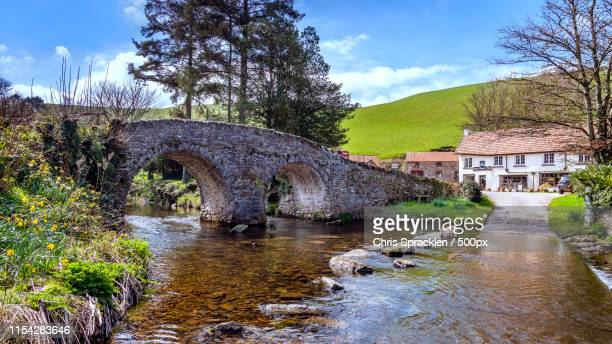 bridge and ford, malmsmead - somerset england stock pictures, royalty-free photos & images