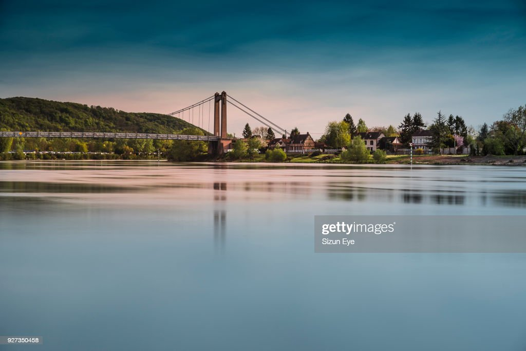 Bridge And Seine River Shore In The Les Andelys Normandie Region In France High Res Stock Photo Getty Images