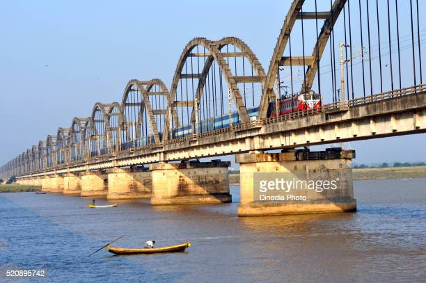 Bridge at godavari river, andhra pradesh, India