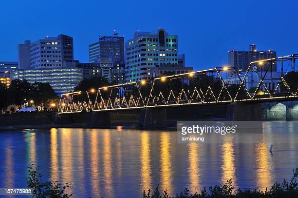 bridge at harrisburg - harrisburg pennsylvania stock pictures, royalty-free photos & images