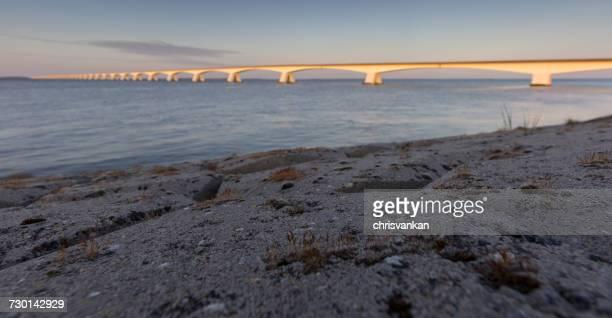 Bridge at sunset, Colijnsplaat, Zeeland, Holland