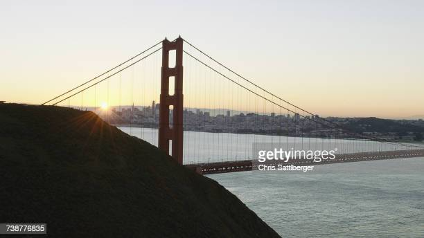 Bridge at sunset, San Francisco, California, United States