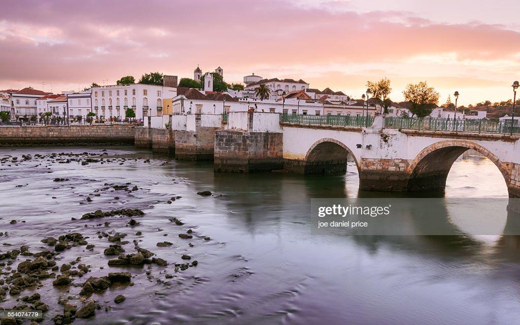 Bridge at Tavira, Algarve, Portugal : Stock Photo