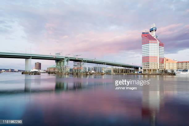 bridge at water - gothenburg stock pictures, royalty-free photos & images