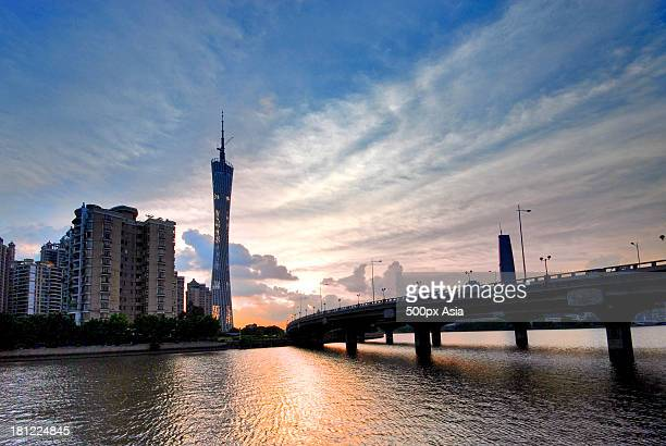 Bridge, Canton Tower and Pearl River