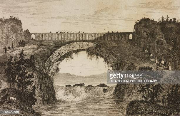 Bridge China engraving from Chine ou Description historique geographique et litteraire de ce vaste empire d'apres des documents chinois Premiere...