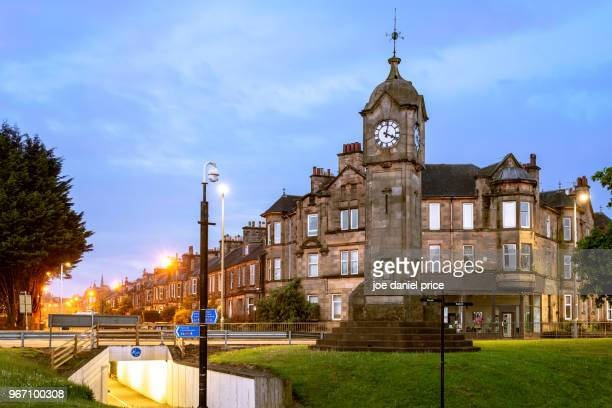 bridge clock tower, stirling, scotland - stirling stock pictures, royalty-free photos & images
