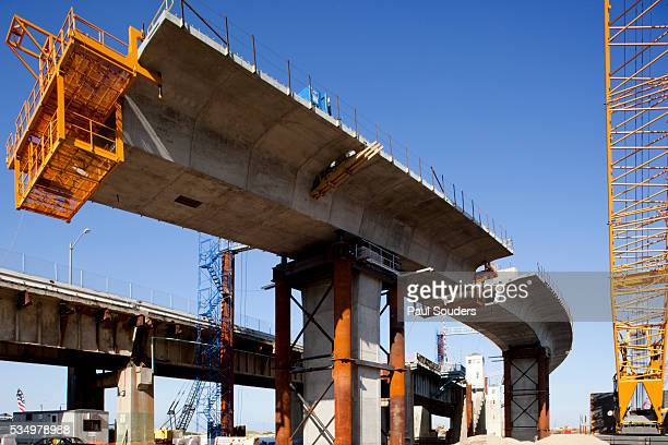 bridge construction, perth amboy, new jersey - image stock pictures, royalty-free photos & images